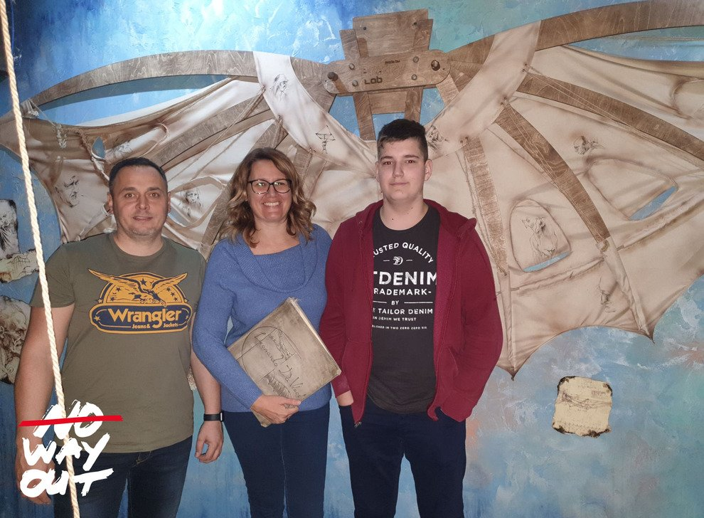 Escape room Da Vinci, 25 Nov 2019 14:45 - Photo Galerie - NoWayOut Escape Rooms Wien